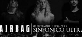 Airbag hará un show junto a una orquesta en el Luna Park